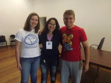 Ana Caroline, diretora da UBES no RS; Nicole Nunes, presidente da URES e Fellipe Belasquem, ex-presidente da URES.