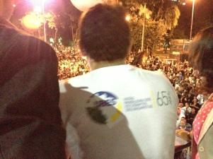 Fala do tesoureiro da UBES na última sexta-feira (26) durante ato dos professores de São Paulo
